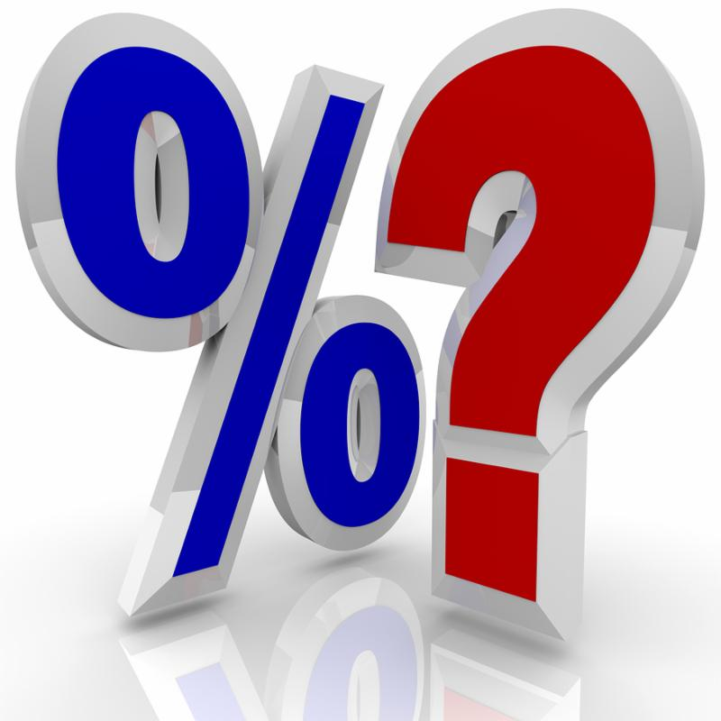 interest rates question mark